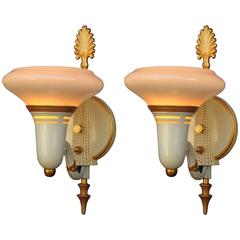 Late 1920s-Early 1930s Lightolier Deco Sconces