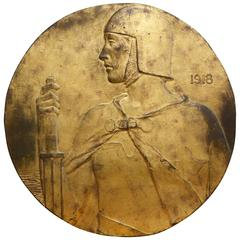 Large Bronze Low Relief Plaque by Nathan Dumont Potter, 1918