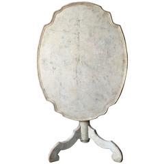 18th Century Swedish Period Rococo Pedestal Table