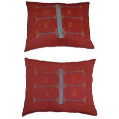 Pair of Silk Pillows