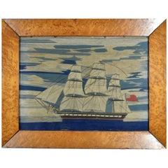 English Sailor's Woolwork of a Royal Navy Ship