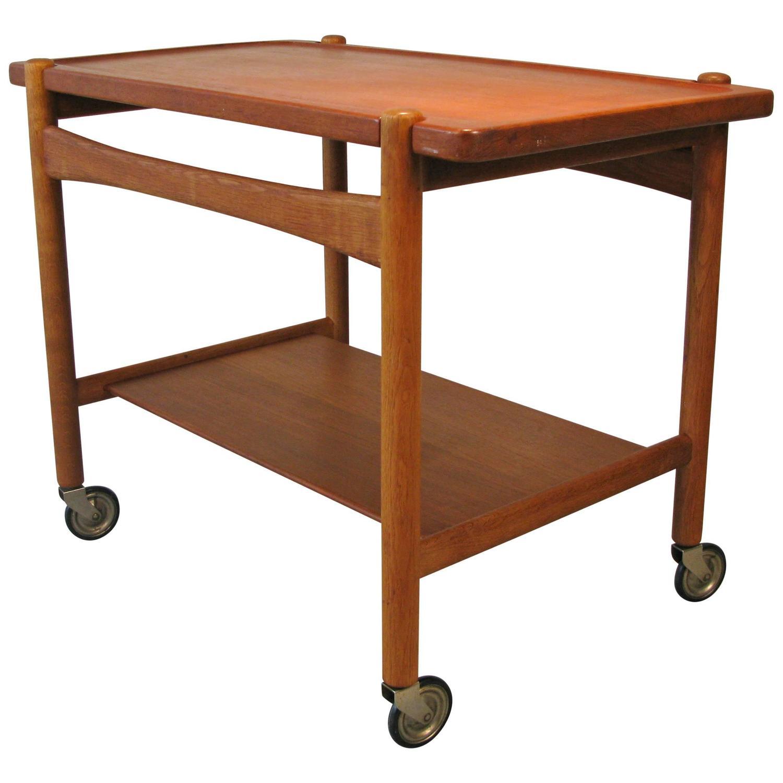mid century danish bar cart by hans wegner at 1stdibs. Black Bedroom Furniture Sets. Home Design Ideas
