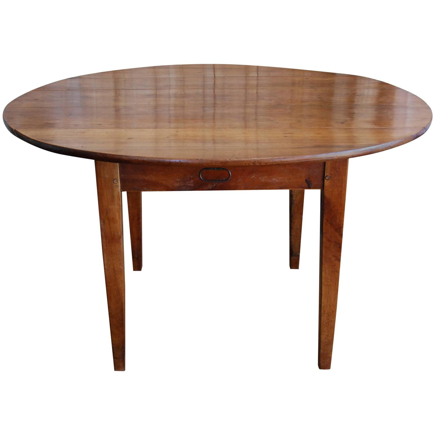 19th century french walnut round drop leaf table at 1stdibs for Round drop leaf dining table
