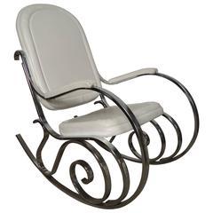 Midcentury Maison Jensen Chrome Rocking Chair