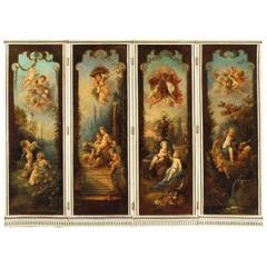 18th Century Rococo Decorative Screen in the Manner of François Boucher
