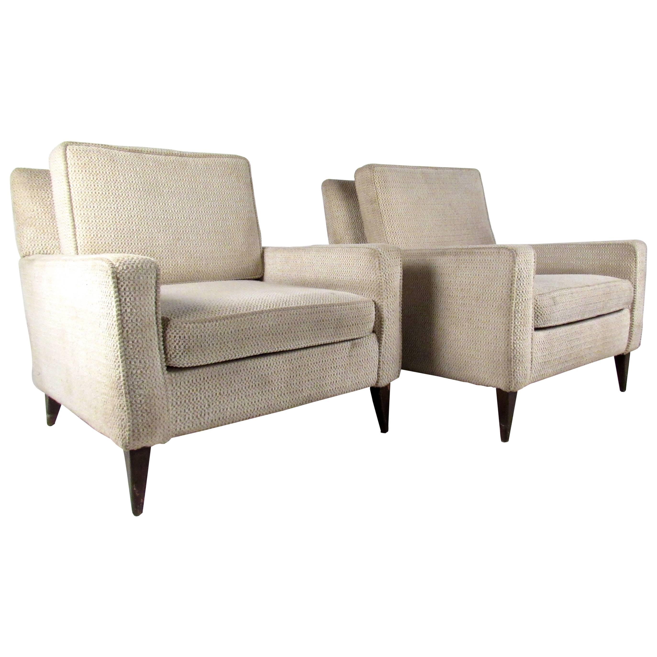 Pair Midcentury Paul McCobb Style Lounge Chairs