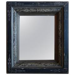 French 19th Century Portrait Mirror With Carved Frame And Original Mirror Glass.