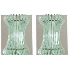 Pair of Beveled Sconces by Cristal Arte