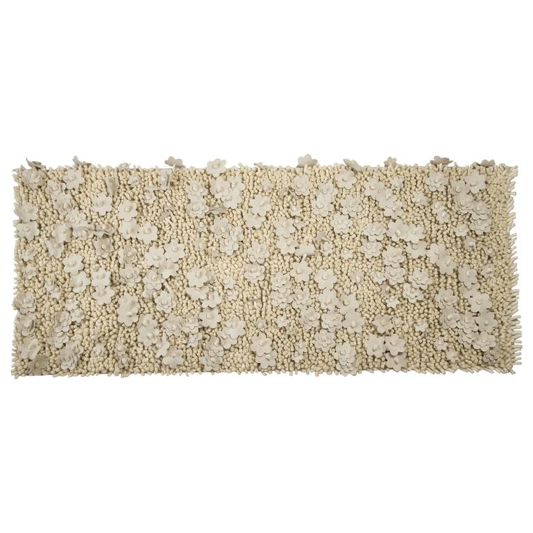 Beaded Flower Rug Or Wall Hanging Or Bed Headboard For Sale At 1stdibs