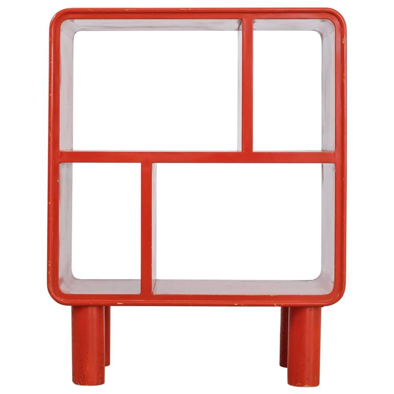Small Art Deco Red Shelving Unit, Sweden, 1930s For Sale at 1stdibs