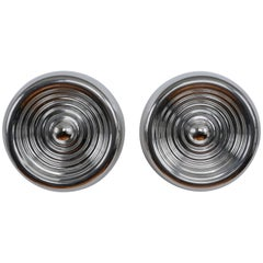 "Pair of ""Padina"" flush mounts or wall lamps by Achille Castiglioni for Flos"