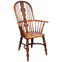 Yew Wood Windsor Armchair