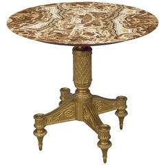 19th Centry Italian Giltwood Centre Table with Marble Top
