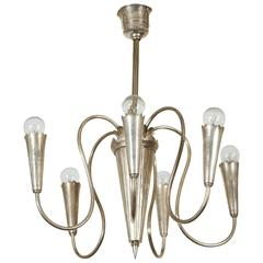 Silver Art Deco Chandelier