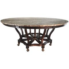 Exquisite Widdicomb Designed Game or Library Table with Dark Mahogany Base
