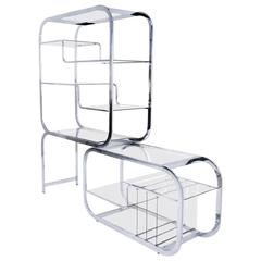 Expandable Chrome Etagere by Milo Baughman for DIA