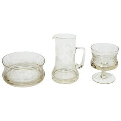 Set of Victorian Glass Serving Pieces