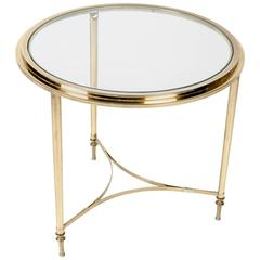 Vintage Brass with Glass Top Table