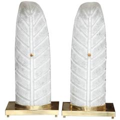 Murano Glass Feather Table Lamps