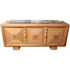 Large Serving Cabinet with Marble Top