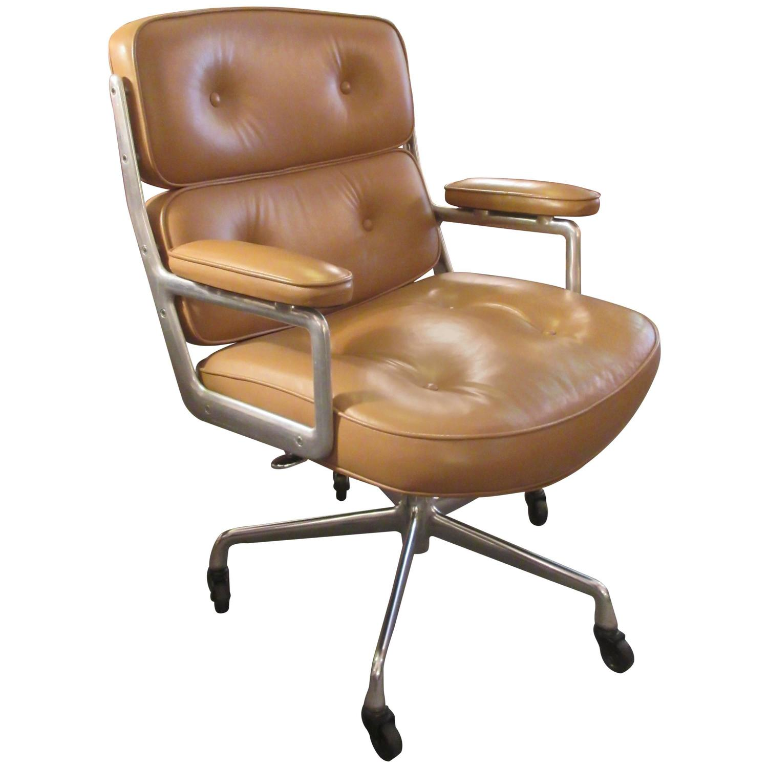 eames time life leather chair for herman miller at 1stdibs