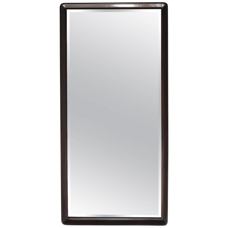 Large Rectangular Jacaranda Mirror With Beveled Edge