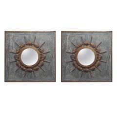 Pair of Italian Painted Mirrors