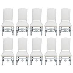 Set of Ten Dining Chairs