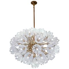 Chandelier with White Flowers