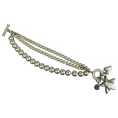 Chic Mid-Century Hollywood Fred Hayman Beverly Hills Toggle Charm Bracelet