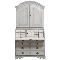 18th Century Swedish Period Gustavian Secretary with Library