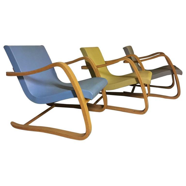 Rare Set of Three Hartmut Lohmeyer Bentwood Lounge Chairs