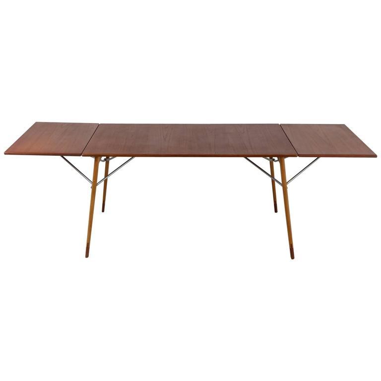 Børge Mogensen Double Drop Leaf Table For Søborg Sweden 1950s