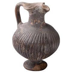 Ancient Cypriot Geometric Black Slip Ware Jug, 950 BC