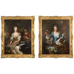 Exceptionnal Pair of Portraits by Hyacinthe Rigaud