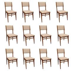 Elegant Set of 12 Chairs by Carlo de Carli