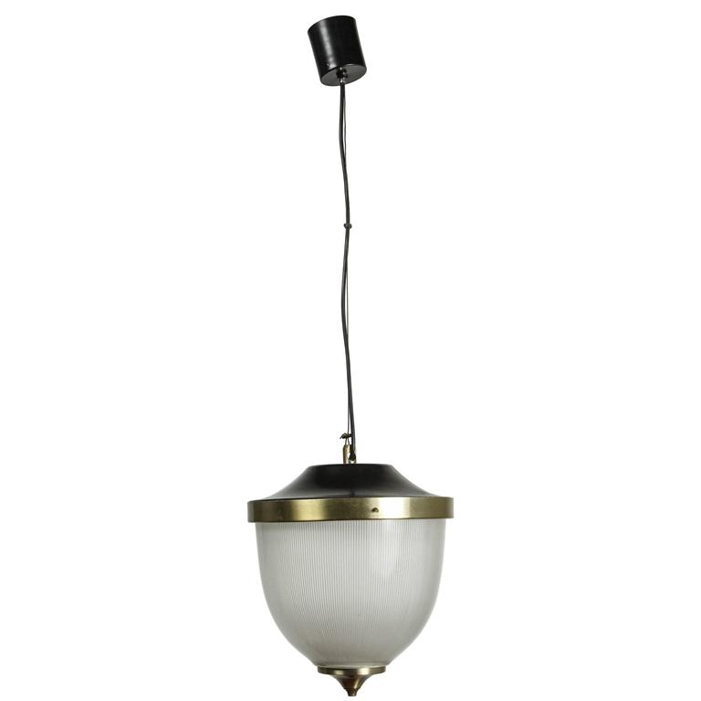 Mazzega Murano Pendant with Brass Fittings