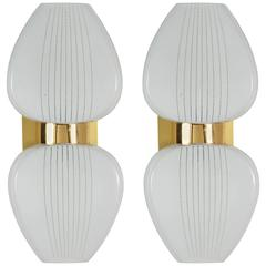 Pair of Mid-Century Up and Down French Sconces