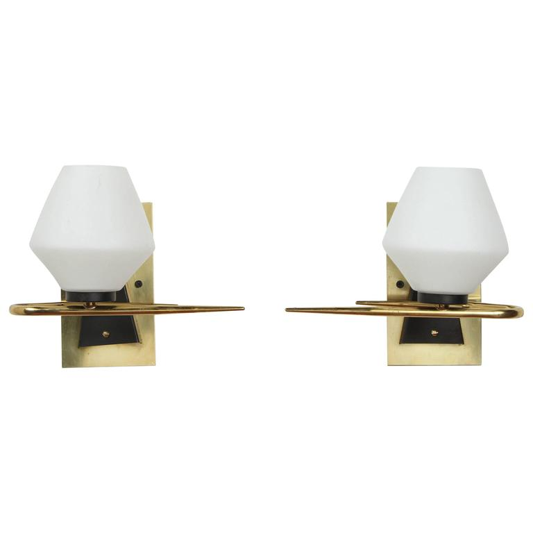 Pair of Mid-Century French Sconces