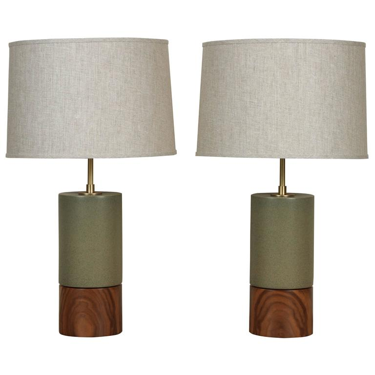 Stone and Sawyer Baxter lamps, 2017, offered by Lawson-Fenning