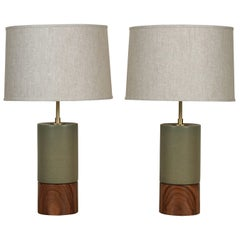 Pair of Short Baxter Lamps by Stone and Sawyer