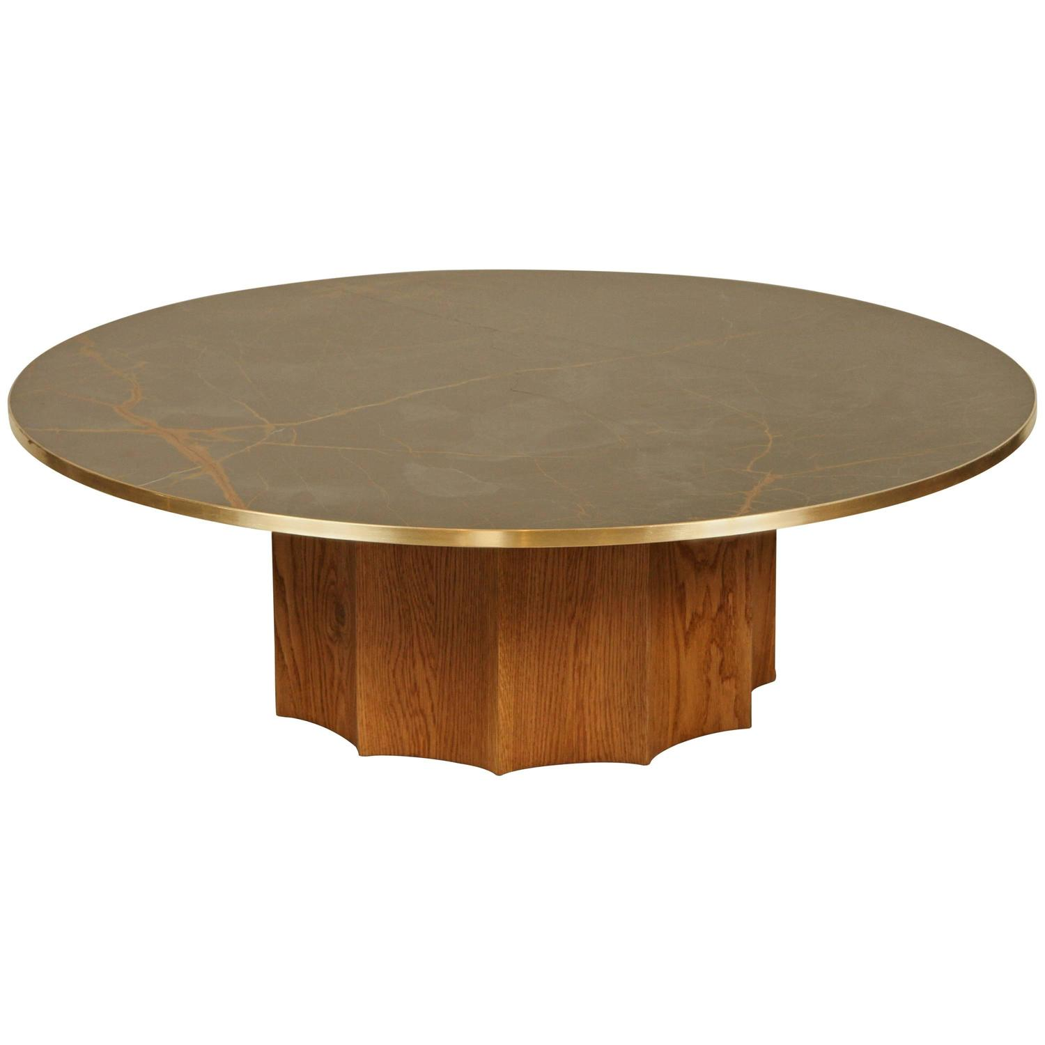 Norman Coffee Table by Lawson Fenning with Bronzetto Marble at