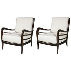 Pair of Lounge Chairs Attributed to Paolo Buffa