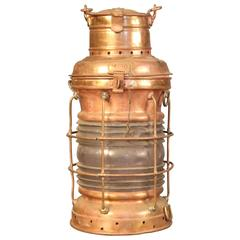 Anchor Lantern of Solid Copper