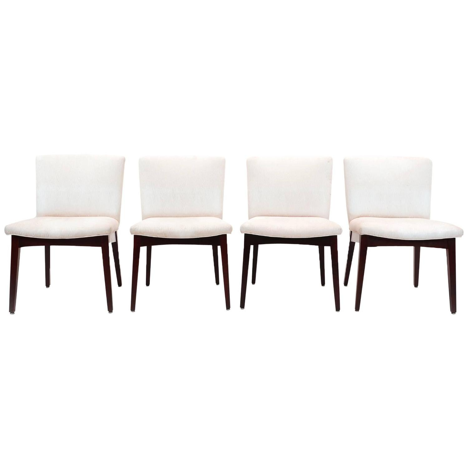 Set of four armless jens risom dining chairs for sale at 1stdibs - Jens risom dining chairs ...