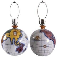 Zaccagnini Pair Globe Lamp Bases, Italy, circa 1950