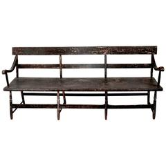 Single Board Black Bench