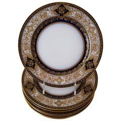 Six Theodore Haniland Limoges Dinner Plates, 19th Century