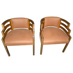 Pair of Kem Weber Style Art Deco Side Chair