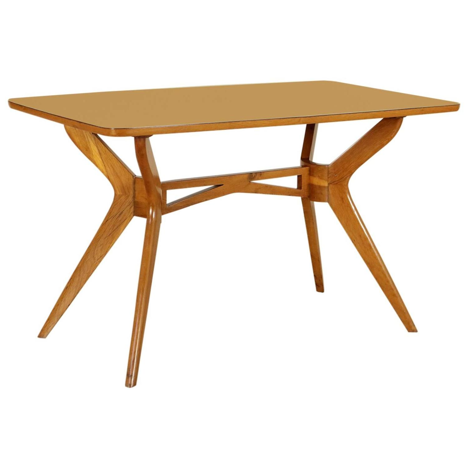 Beech and formica 1950s table manufactured in italy at 1stdibs for Table formica